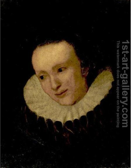 Portrait Of A Lady, Said To Be Margriet De Vos by (after) Dyck, Sir Anthony van - Reproduction Oil Painting
