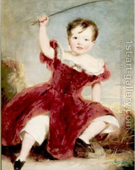 Portrait Of A Child In A Landscape by (after) George Henry Harlow - Reproduction Oil Painting