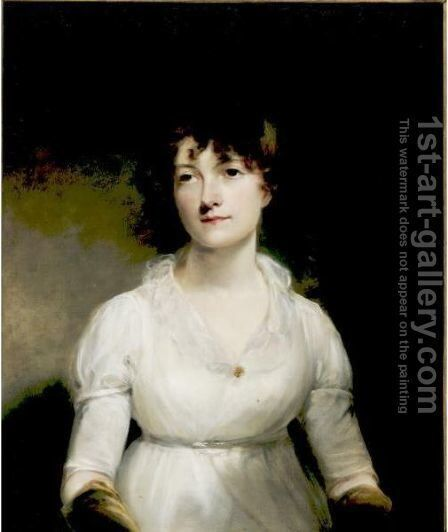 Portrait Of Miss Fellows by (after) Of William Owen - Reproduction Oil Painting