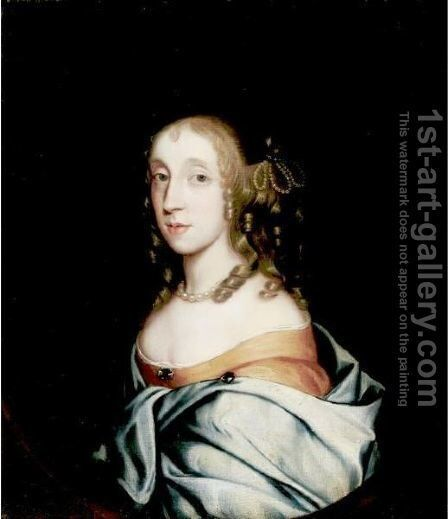 Portrait Of Lucy Ann Mariott by (after) Sir Peter Lely - Reproduction Oil Painting