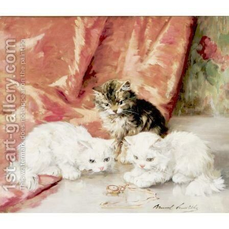 An Intriguing Toy by Alphonse de Neuville - Reproduction Oil Painting