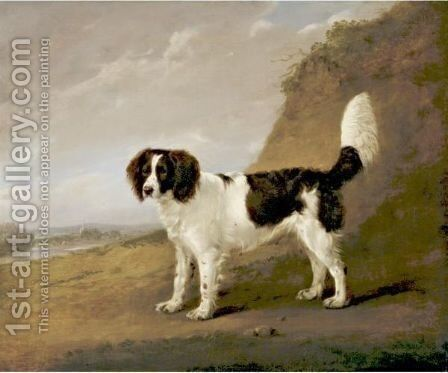 Spaniel by Edmund Bristow - Reproduction Oil Painting