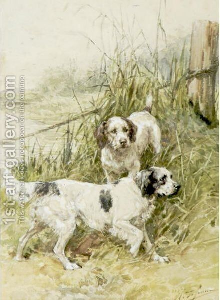 Two Setters By A Marsh by Charles Olivier De Penne - Reproduction Oil Painting