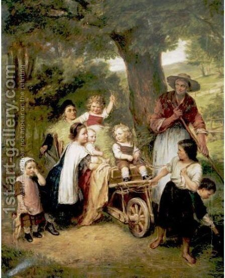 Return From The Field by (after) Karl Johann Lasch - Reproduction Oil Painting