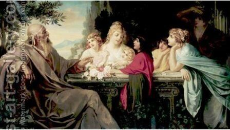 The Philosopher And His Disciples by August Wolf - Reproduction Oil Painting