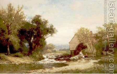 The Brook by Alfred Wordsworth Thompson - Reproduction Oil Painting