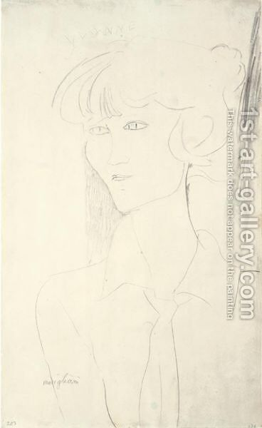 Portrait D'Yvonne by Amedeo Modigliani - Reproduction Oil Painting