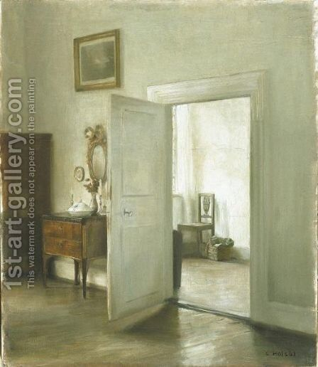 Interior (Interior) by Carl Vilhelm Holsoe - Reproduction Oil Painting