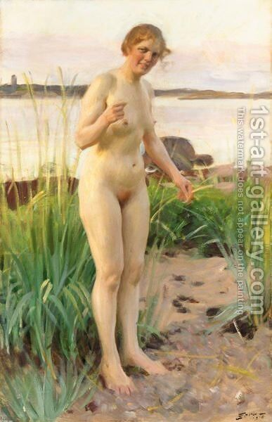 Smalandska (Girl From Smaland) by Anders Zorn - Reproduction Oil Painting