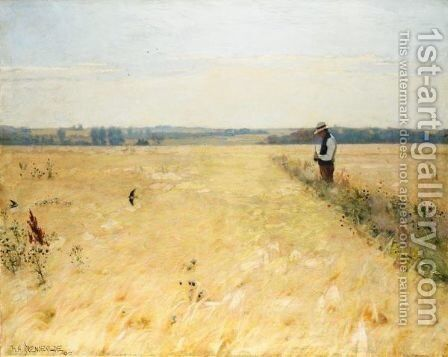 I Kornmarken (In The Cornfield) by Hans Anderson Brendekilde - Reproduction Oil Painting
