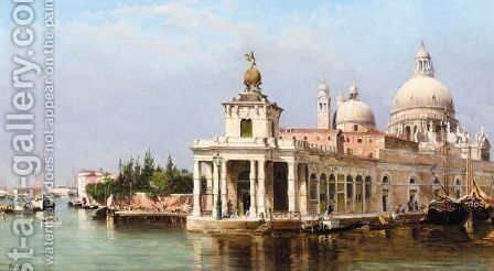 The Customs House And Santa Maria Della Salute, Venice by Antonietta Brandeis - Reproduction Oil Painting
