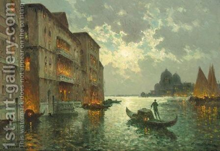 Nuit A Venise by Antione Bouvard - Reproduction Oil Painting