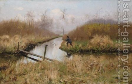 Le Chasseur by Emile Claus - Reproduction Oil Painting