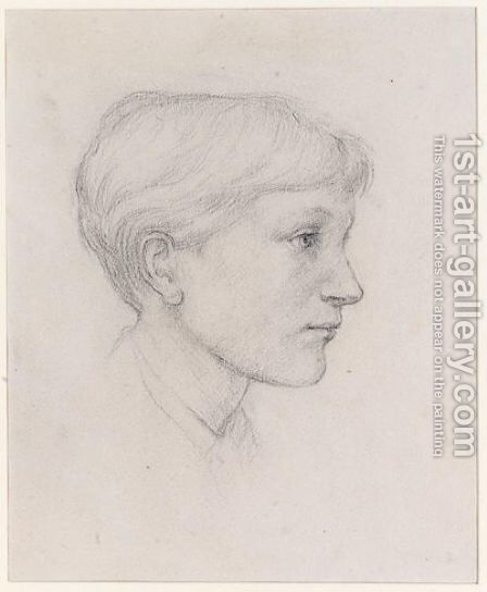Portrait Of The Artist's Son Philip by Sir Edward Coley Burne-Jones - Reproduction Oil Painting