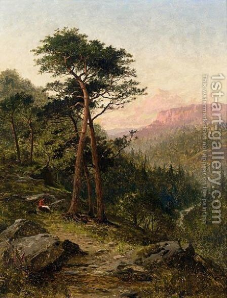 Evening, North Wales 2 by Benjamin Williams Leader - Reproduction Oil Painting