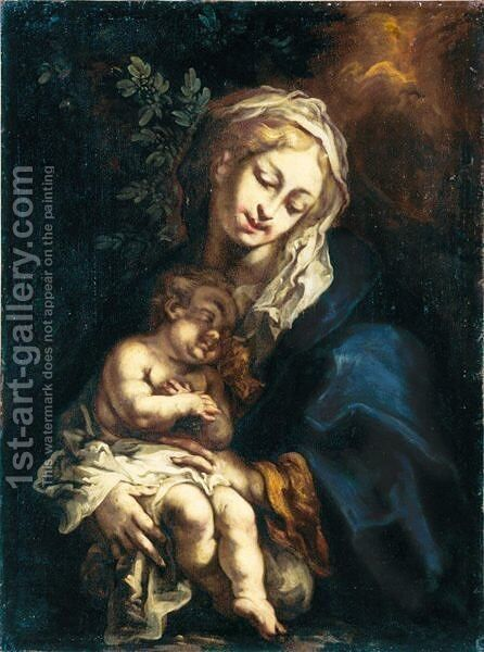 Madonna Col Bambino by Giuseppe Antonio Pianca - Reproduction Oil Painting