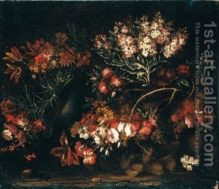 Natura Morta Con Fiori by (after) Giuseppe Vicenzino - Reproduction Oil Painting