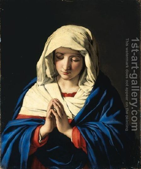 Madonna 2 by Giovanni Battista Salvi, Il Sassoferrato - Reproduction Oil Painting