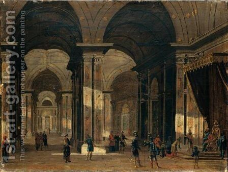 Architettura Con Figure by Italian School - Reproduction Oil Painting