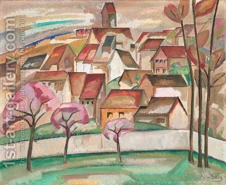 Le Village by Alice Bailly - Reproduction Oil Painting