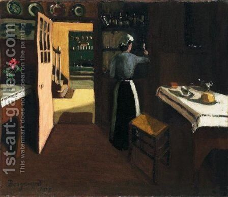 Le Fumoir, 1912 by Marius Borgeaud - Reproduction Oil Painting
