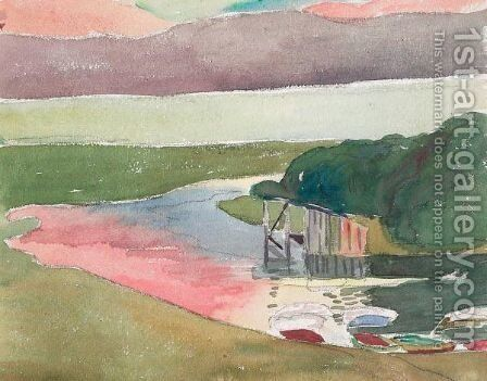 Silsersee Mit Innmundung by Giovanni Giacometti - Reproduction Oil Painting