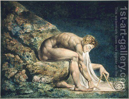 Isaac Newton 1795 by William Blake - Reproduction Oil Painting