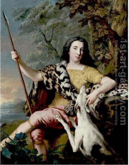 Portrait Of A Hunter by Jean-Marc Nattier - Reproduction Oil Painting