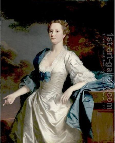 Portrait Of Mrs. Mary Wilbraham by Allan Ramsay - Reproduction Oil Painting
