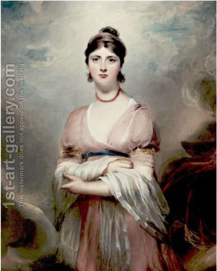 Portrait Of Mrs. Locke, Nee Jennings by (after) Lawrence, Sir Thomas - Reproduction Oil Painting