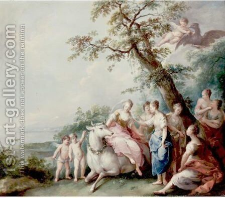 The Rape Of Europa by (after) Balthasar Beschey - Reproduction Oil Painting