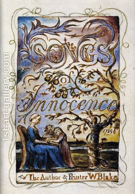 Songs Of Innocence (Title Page) by William Blake - Reproduction Oil Painting