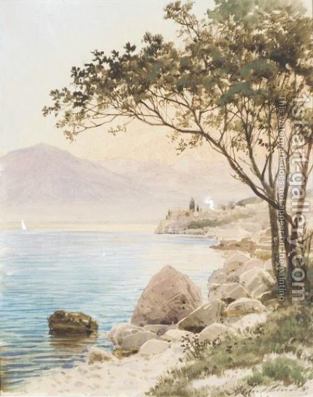 Mediterranean Shores by Albert Nikolaevich Benois - Reproduction Oil Painting