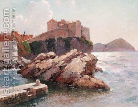 View Of Dubrovnik 2 by Aleksei Vasilievich Hanzen - Reproduction Oil Painting
