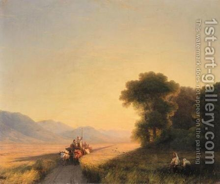 Daybreak Over The Cornfields by Ivan Konstantinovich Aivazovsky - Reproduction Oil Painting