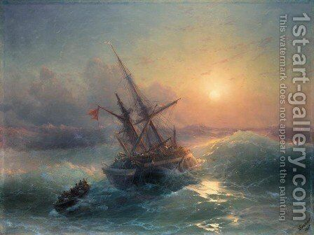 The Shipwreck 6 by Ivan Konstantinovich Aivazovsky - Reproduction Oil Painting