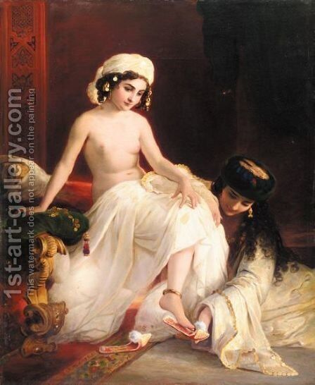 Harem Beauty by (after) Timofey Andreevich Neff - Reproduction Oil Painting