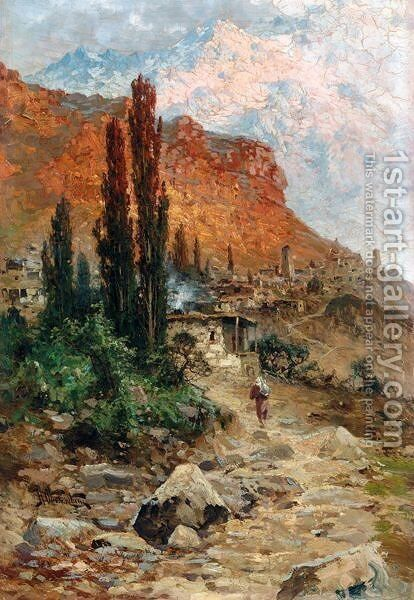 Crimean View by N. Obolensky - Reproduction Oil Painting
