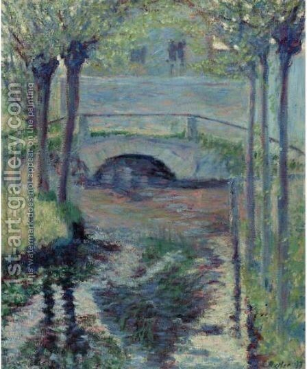 Bridge At Giverny by Theodore Butler - Reproduction Oil Painting