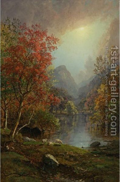 In The Ramapo Valley by Jasper Francis Cropsey - Reproduction Oil Painting