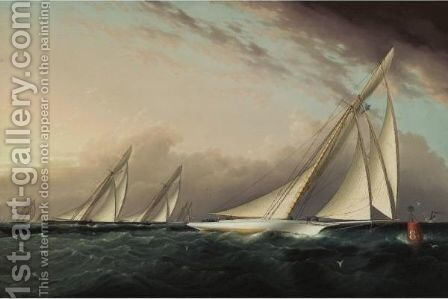 Round Buoy 8 1-2 by James E. Buttersworth - Reproduction Oil Painting