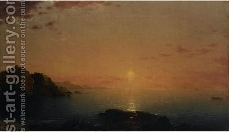 Coastal Sunset by John Frederick Kensett - Reproduction Oil Painting