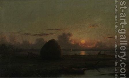 Haystack At Sunset by Martin Johnson Heade - Reproduction Oil Painting