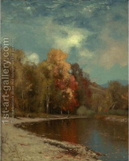 Autumn Leaves by Jervis McEntee - Reproduction Oil Painting
