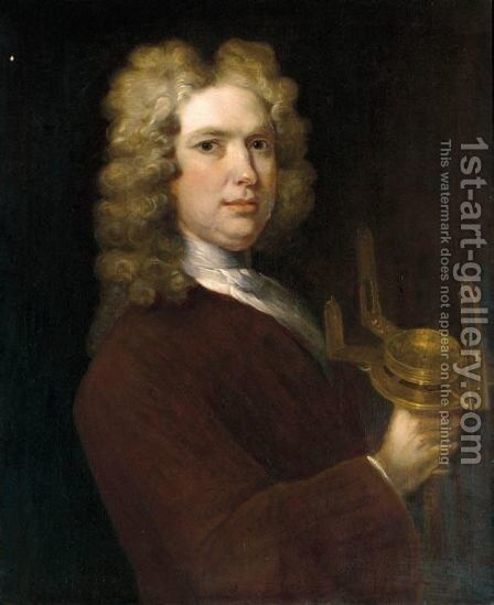 Portrait Of Gabriel Stokes, Deputy Surveyor General Of Ireland (1680-1750) by Charles Jervas - Reproduction Oil Painting