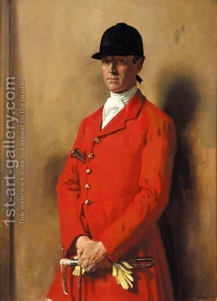 Portrait Of Captain Marshall Roberts, Master Of The South Notts Foxhounds by Sir William Newenham Montague Orpen - Reproduction Oil Painting