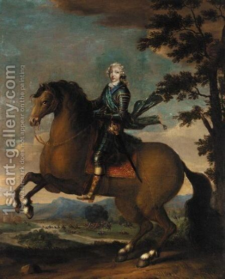 Portrait Of Prince Charles Edward Stuart, The Young Pretender by (after) Vanloo, Jean Baptiste - Reproduction Oil Painting
