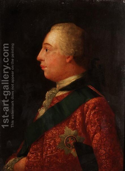 Portrait Of George III, And Queen Charlotte by (after) Allan Ramsay - Reproduction Oil Painting