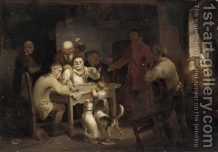 The Animated Tavern by (after) Sir David Wilkie - Reproduction Oil Painting