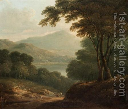 Moel Hebog And Llyn Dinas by (after) Richard Wilson - Reproduction Oil Painting